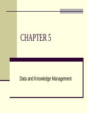 Chapter 5- Data and Knowledge Management.pptx