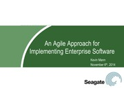 Week 8 TIM 101 Agile Approach for Implementing Enterprise Software