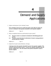 Chapter4 Demand and Supply Application