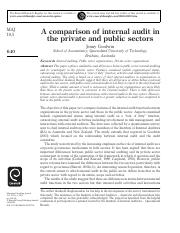 Reading 16_Goodwin_Public Sector vs Private Sector Int Audit