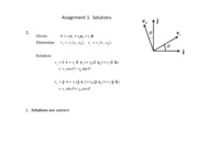 Assignment 1 Solutions.- Vector Problems