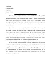 Recommended Small Writing Assignment Example Paper