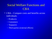 Social Welfare Functions Powerpoint