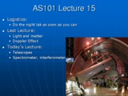 AS101 Lecture 15