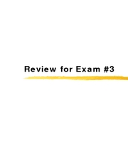 26a - Review for Exam 3