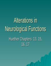 MOODLE Alterations in Neurological Functions