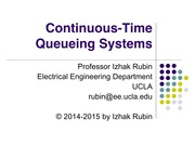 Section 13 Continuous Time Queueing Systems
