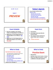 Powerpoint - Exam 2 Preview