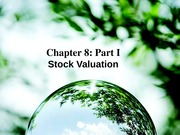 Corporate Finance Lecture 7_Chapter 8 Part 1
