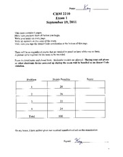 Dr. Mcelwee white Exam 1 Answer Key 2011