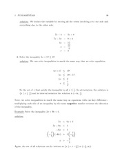 MATH 3260 Rules of Inequalities Notes