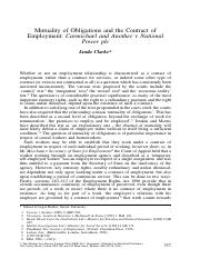 Clarke, L (2000) Mutuality of Obligations and the Contract of Employment.pdf