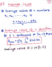 MAT 1371 Average Value of Numbers Notes