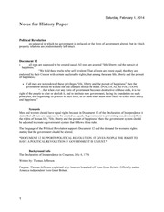 Women's Rights History Paper Notes
