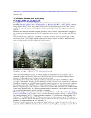 Wall Street Warms to China Story  WSJ 1-2-11