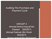 PURCHASES audit presentation