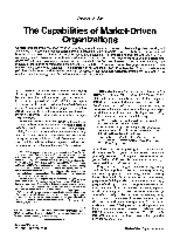 (1994) The Capabilities of Market-Driven Organizations
