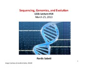 14-Lecture sequencing genomics evolution