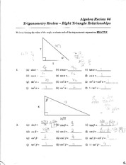 Right Triangle relations