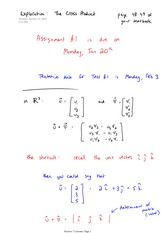 Math 2730 Cross Product Notes