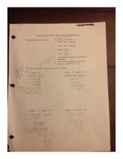 Solving Logarithmic and Exponential Functions
