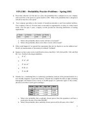 QBA 2302 - Probability Practice Problems - Spring 2016.docx