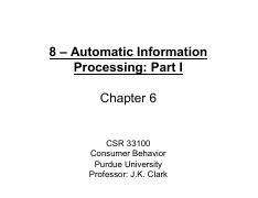 8 - Automatic Information Processing - Part 1