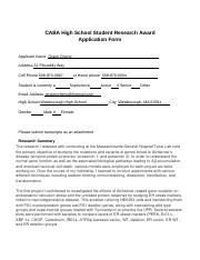 CABA High School Student Research Award Application Form-student.docx