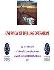 Chapter 1_Overview of Drilling Operation