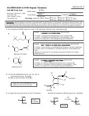 Chem2020 - Fall Midterm (key) Nov 1, 2006