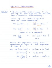 CHE 120 Logarithmic Differentiation Notes