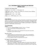 Syllabus LS3 Spring 2015 FINAL