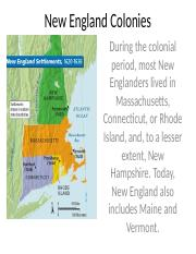 New England, Middle, and Southern Colonies (1)