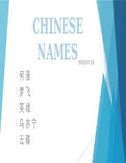 CHINESE NAMES  .pptx
