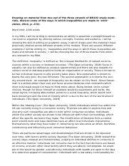 Summary Response Essay Example