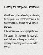 9 Capacity and Manpower Estimations.pptx