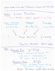 Linear Functions and Application Lecture