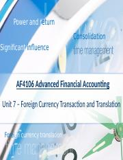 AFA(2017)_07 - Foreign Currency Transaction and Translation.pptx