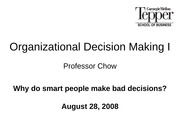 02_Organizational Decision Making I_bb