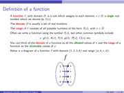 Functions and their representations