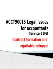 Contract formation and equitable estoppel sem 1 2016