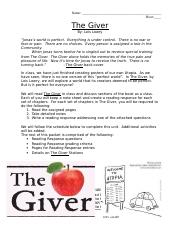 The Giver Packet 2016 (1).doc