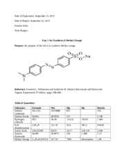 Exp. 1 &4 Synthesis of Methyl Orange.docx