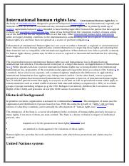 International human rights law  complexxx