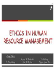 Human resource management ethics.ppt