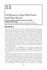 Oil recovery from palm fruit and kernel