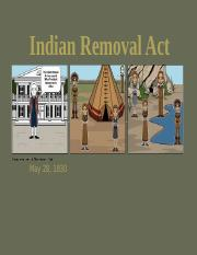 Sherry Manley Indian Removal Act