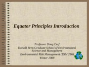 Equator Principles Introduction