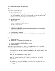 Part B Implement Organisation Development Plan.docx