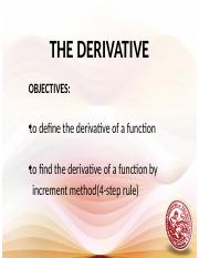 Definition of Derivatives and the Four Step Rule Lesson 11